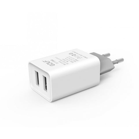 USB Mains Charger Dual USB 2.1A