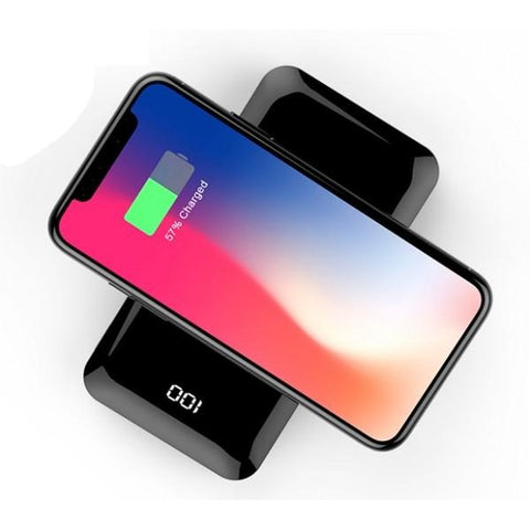 USB Power Bank 8000mAh with Wireless Charging