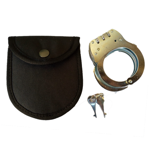 Steel Handcuffs with Pouch