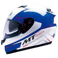 MT Helmet Blade Boss White/Blue
