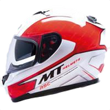MT Helmet Blade Boss White/Red