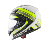 MT Helmet Overcome White/Yellow