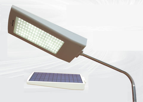 LED Floodlight with Solar Panel & Motion Sensor