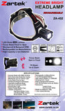 Zartek LED Rechargeable Headlamp