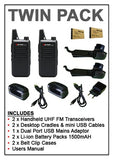 Zartek Rechargeable Two-Way Radio TX8 Twin-Pack