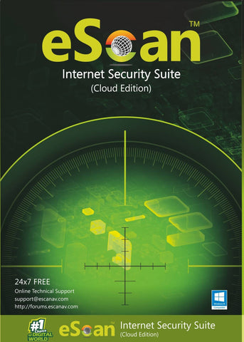 Антивирусен софтуер eScan Internet Security Suite with Cloud Security 1 user/1 year (box)