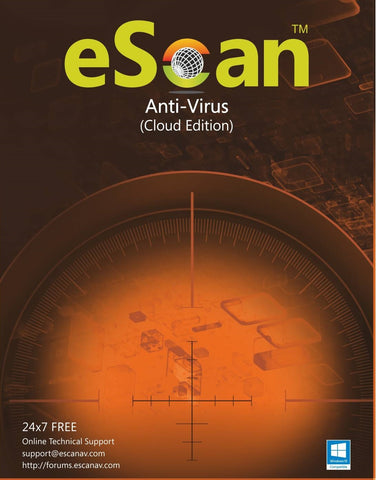 eScan Anti-Virus  with Cloud Security 1 user/1 year (For Windows) - Activate Link: http://www.escanav.com/en/antivirus-downloadlink/downloadproduct.asp?pcode=ES-AVv14
