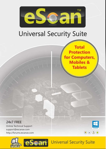 eScan Universal Security Suite (5-device License) - 1 year (Multi-device License)
