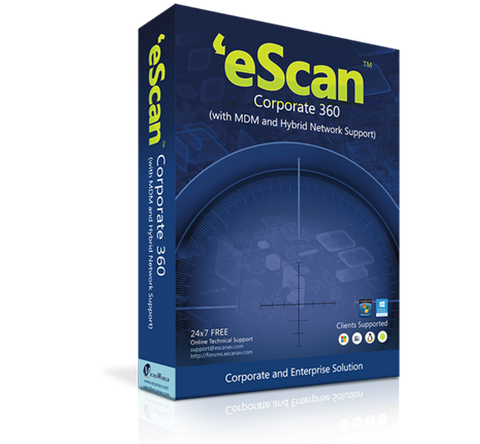 eScan Corporate 360 20-25 users / 1 year (price for 1 license)