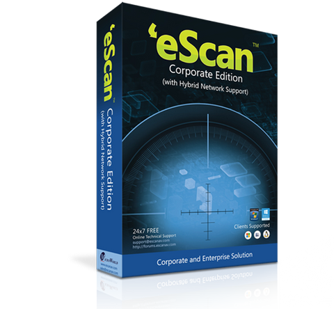eScan Corporate Edition 5-9 users / 1 year (price for 1 license)