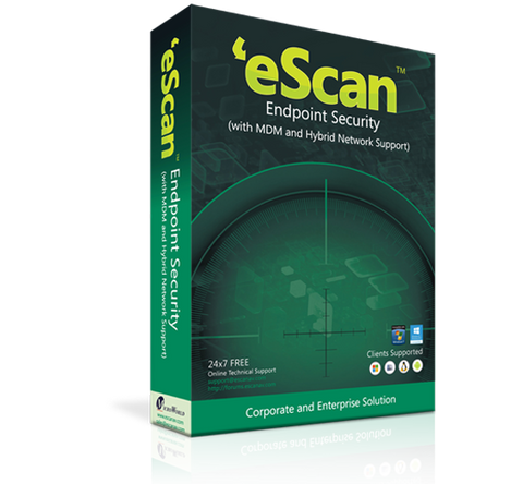 eScan End Point Security Hybrid 5-9 users / 1 year (price for 1 license)