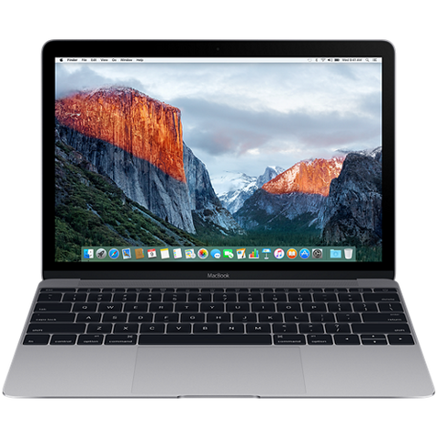 "Преносим компютър Apple MacBook 12"" Retina/DC M3 1.2GHz/8GB/256GB/Intel HD Graphics 615/Space Grey - INT KB"