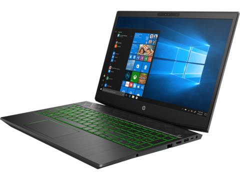 HP Pavilion Gaming Intel Core i5-8300H ( 2.30 GHz up to  4.00 GHz 4 cores 8 MB Cache) 8GB DDR4 2400 MHZ 2DM  1TB 7200RPM + 256GB PCIe  Nvidia GeForce GTX 1050Ti 4GB 15.6 FHD Antiglare slim IPS 144Hz Narrow Border  FreeDOS 2.0  ShadowBlack w/ Acid green