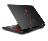 HP OMEN Intel Core i7-8750H hexa ( 2.20 GHz up to  4.10 GHz 6 cores 9 MB Cache)  8GB DDR4 2DM 2400 MHz 1TB 7200 rpm HDD Nvidia GeForce GTX 1060 6GB G-SYNC 15.6 FHD Antiglare ultraslim IPS 144Hz Narrow Border FreeDOS 2.0  Shadow black - Thunderbolt 2 yea