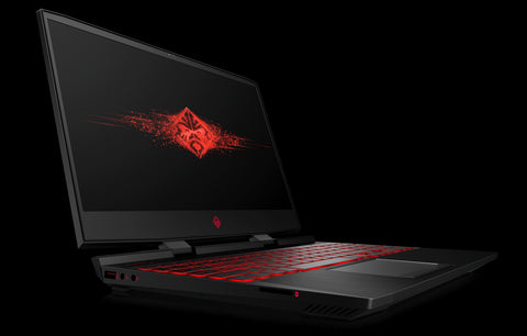 HP OMEN  Intel Core i7-8750H hexa ( 2.20 GHz up to  4.10 GHz 6 cores 9 MB Cache) 16GB DDR4 2DM | 1TB 7200RPM + 256GB PCIe | Nvidia GeForce GTX 1050Ti 4GB | 17.3 FHD Antiglare flat IPS 60Hz |  Windows 10 Home Shadow black 2 years warranty
