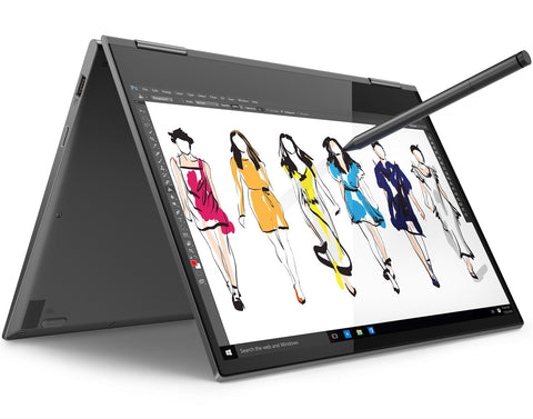 "Lenovo Yoga 730 13.3"" FullHD IPS Antiglare Touch i7-8550U up to 4.0GHz QuadCore, 16GB DDR4, 512GB SSD m.2, Backlit KBD, Fingerprint Reader, USB-C, WiFi, BT, HD cam, Iron Grey, Win 10 + Active Pen"