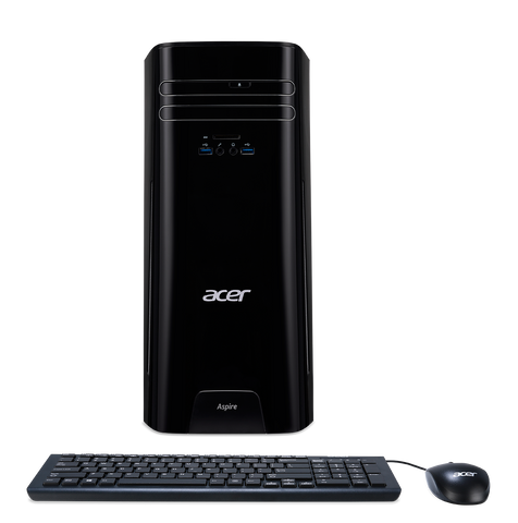 PC Acer Aspire TC-780 (30L)/Intel Core i5-7400(Quad-Core)/up to 3.50GHz, 6MB/H110 Chipset/NVIDIA GeForce GT1030 2GB/DVI&HDMI/1x8GB DDR4/1TB 7200rpm//DVD RW/Card READER/WLAN 802.11ac+Bluetooth/Gigabit LAN/ PSU 220W/Keyboard & Mouse USB/ FreeDOS