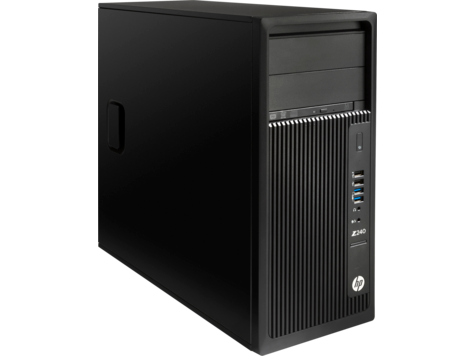 HP Z240 Workstation Intel® Xeon® E3-1230 v6 (3.5 GHz base frequency, up to 3.9 GHz with Intel® Turbo Boost Technology, 8 MB cache, 4 cores) 8 GB DDR4-2400 non-ECC SDRAM (1 x 8 GB) 1 TB 7200 rpm SATA NVIDIA® Quadro® P400 (2 GB GDDR5 dedicated) DVD/RW Win