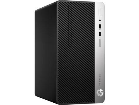 HP ProDesk 400G5 MT Intel® Core™ i3-8100 with Intel® UHD Graphics 630 (3.6 GHz, 6 MB cache, 4 cores) 4 GB DDR4-2666 SDRAM (1 X 4 GB) 1 TB 7200 rpm SATA DVD/RW Intel® UHD Graphics 630 Windows 10 Pro 64 1 Year warranty