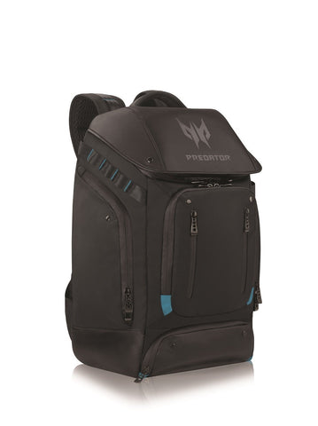 "PREDATOR GAMING UTILITY FOR 17.3""  BACKPACK BLACK WITH TEAL BLUE"