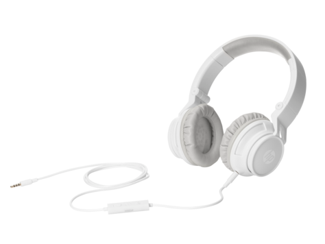 HP H3100 White Wired Headphone