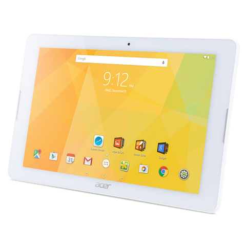 "Tablet Acer Iconia  B3-A30-K32D WiFi/10.1"" IPS (HD 1280 x 800), MTK MT8163 Quad-core Cortex A53/1GB/16GB eMMC, Cam (2MP front, rear 5 MP 1080p FHD)/G-sensor, Micro USB, microSD™, Android™ 6.0 (Marshmallow), White"