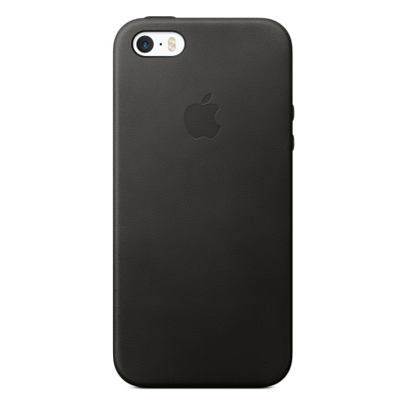 Apple iPhone SE Leather Case - Black
