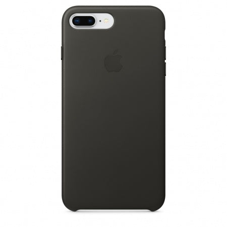 Apple iPhone 8 Plus/7 Plus Leather Case - Charcoal Gray