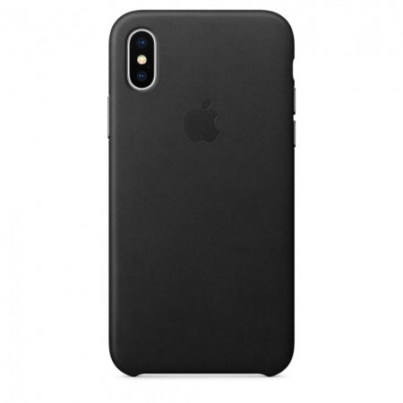 Apple iPhone X Leather Case - Black