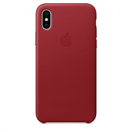 Apple iPhone X Leather Case - (PRODUCT) RED