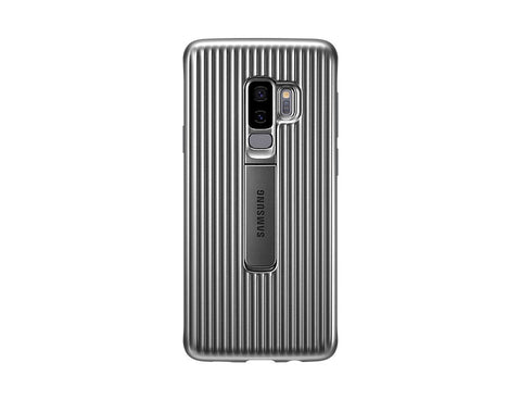Samsung Galaxy S9+, Protective standing cover, Silver