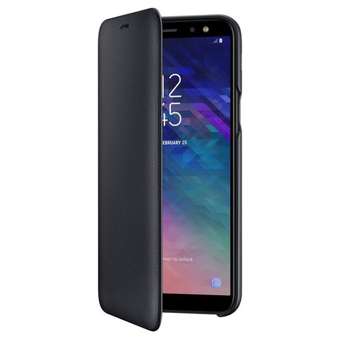 Samsung Galaxy A6 (2018), Flip Wallet Cover, Black
