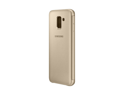 Samsung Galaxy J6 (2018), Flip Wallet Cover, Gold