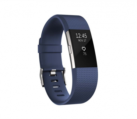 Fitbit Charge 2 Blue Silver - Small