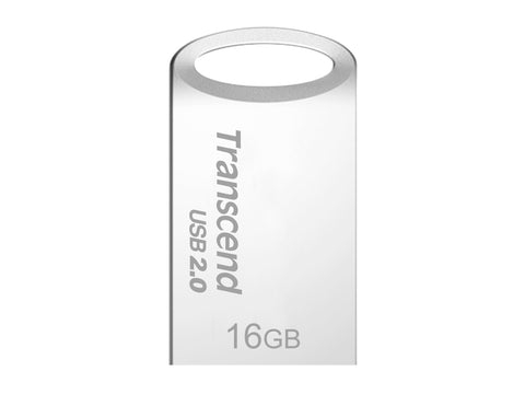 Флаш памет Transcend  16GB JetFlash 510, Silver Plating USB 2.0