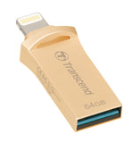 Флаш памет Transcend 64GB JetDrive Go 500 for APPLE Lightning/USB 3.1 Gen 1 Type A connectors for iPhone 7 Plus/ 7/ 6s Plus/ 6s/ 6 Plus/ 6/5s/ 5c/ 5, Silver