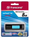 Флаш памет Transcend 8GB JetFlash 760 USB 3.0, read-write: up to 55MBs, 5MBs, Blue