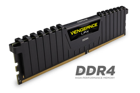 Памет Corsair DDR4, 3200MHz 32GB (2 x 16GB) 288 DIMM, Unbuffered, 16-18-18-36, Vengeance LPX Black Heat spreader, 1.35V, XMP 2.0, Supports 6th Intel® Core™ i5/i7