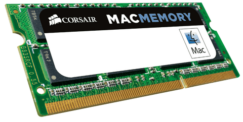 Памет Corsair DDR3L, 1600MHz 16GB (2 x 8GB) 204 SODIMM 1.35V, Apple Qualified, Unbuffered