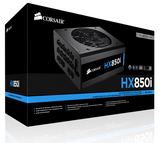 Захранване Corsair PSU Corsair HX Series 850 Watt 80+ Platinum, Fully Modular, EU Version (10 years warranty)