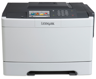 Color Laser Printer Lexmark CS517de Duplex; A4; 1200 x 1200 dpi;4800 CQ; 30 ppm; 512 MB; capacity: 250 sheets; USB 2.0; Gigabit LAN; 4.3'' colour touch screen