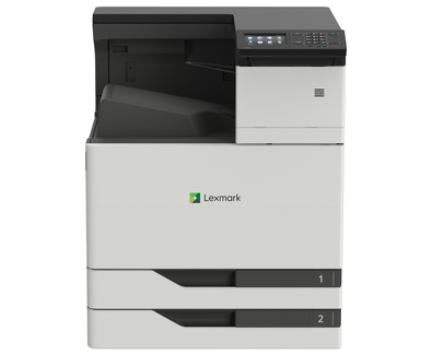 Color Laser Printer Lexmark CS921de - Duplex; A3 Laser; 1200 x 1200 dpi; Black: 35 ppm / Colour: 35 ppm; Standard: 1024 MB / Maximum: 3072 MB; c2 x 500-Sheet Input, 150-Sheet Multipurpose Feeder, 250-Sheet Output Bin, Integrated Duplex; USB 2.0; Gigabit