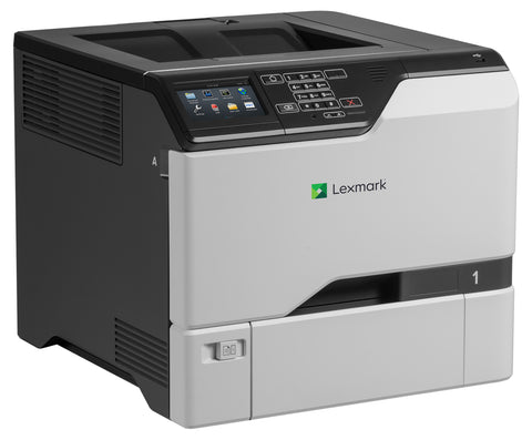 Color Laser Printer Lexmark CS725de Duplex; A4; 1200 x 1200 dpi; 47 ppm; 1024 MB; capacity: 650 sheets; USB 2.0; Gigabit LAN;  Maximum Monthly Duty Cycle 150000 pages per month