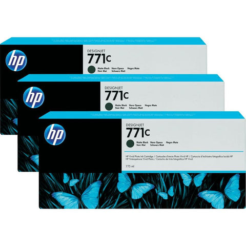 Консуматив HP 771C 1-pack Original Ink Cartridge; Matte Black;  ; HP DesignJet Z6200