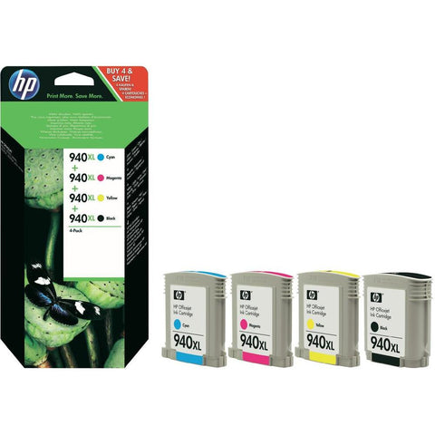 Консуматив HP 940X Combo 4Pack Original Ink Cartridge; CMYK;  Page Yield 2200/1400/1400/1400; HP Officejet Pro 8000/8500