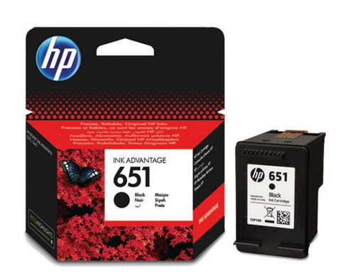 Консуматив HP 651 Original Ink Cartridge; Black;  Page Yield 600; HP DeskJet Ink Advantage 5575; 5645; HP OfficeJet 202 Mobile Printer; 252