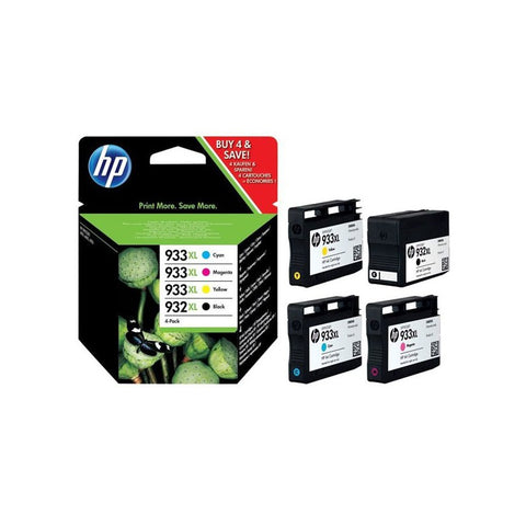 Консуматив HP 932X/933XL Combo 4Pack Original Ink Cartridge; C/M/Y/K;  Page Yield 1000/825/825/825; HP OfficeJet  7110; 7510; 7612; 6100 ; 6700
