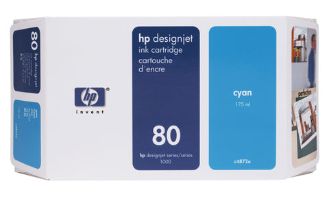 Консуматив HP 80 Standard Original Ink Cartridge; Cyan;  ; HP DesignJet 1050, 1055