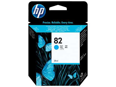Консуматив HP 82 Standard Original Ink Cartridge; Cyan;  ; HP DesignJet 10, 20, 50, 120, 500, 510, 800