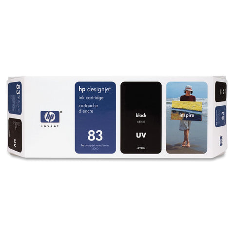 Консуматив HP 83 Standard Original Ink Cartridge; Black;  ; HP DesignJet 5000, 5500